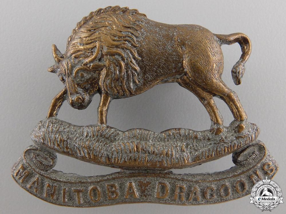 eMedals-A Manitoba Dragoons Cap Badge