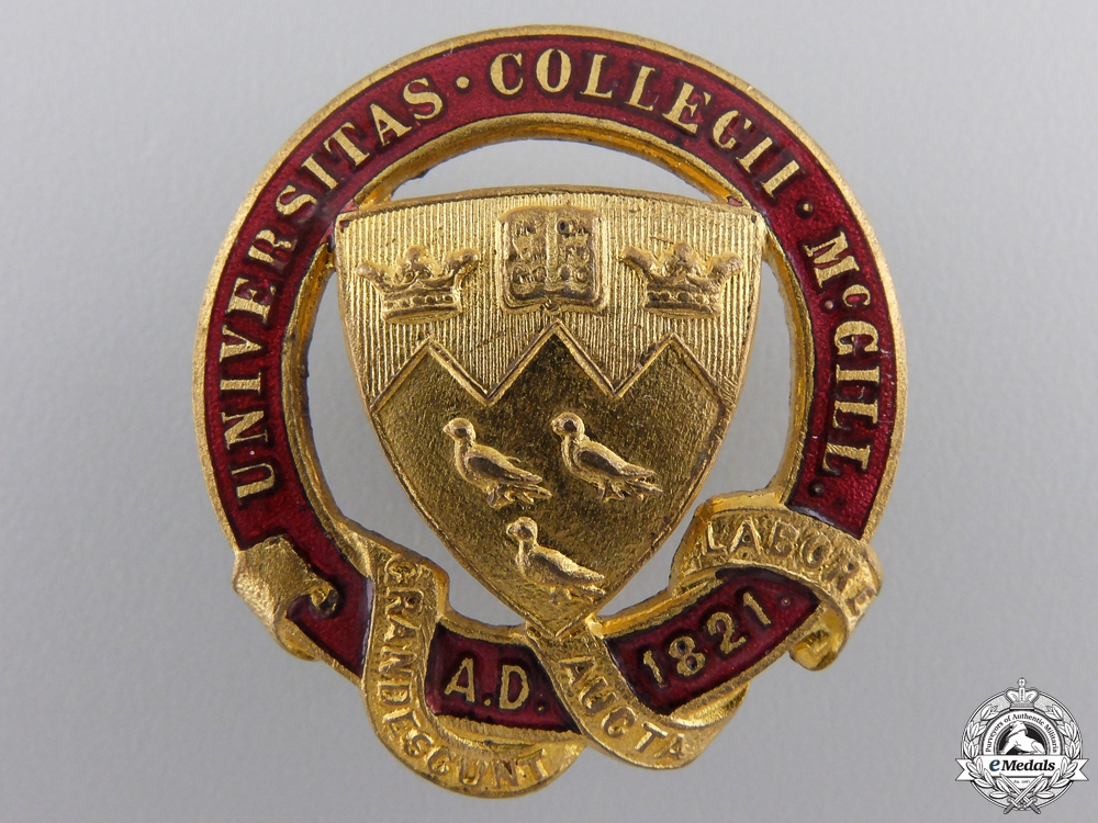 eMedals-A McGill Canadian Officer's Training Corps Sweetheart Badge