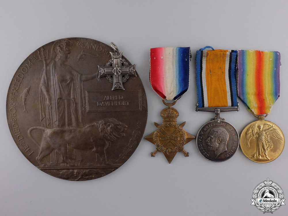 eMedals-A Memorial Group to the Davenport Brothers; KIA at Vimy