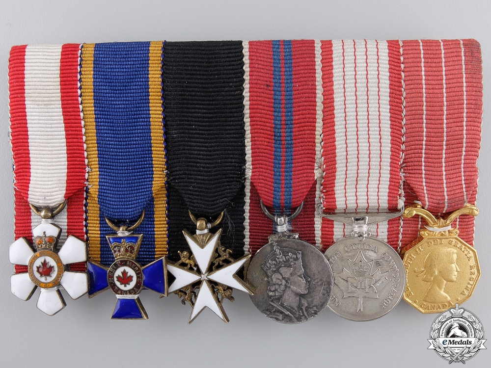 eMedals-A Men's Order of Canada & Order of Military Merit Miniature Group