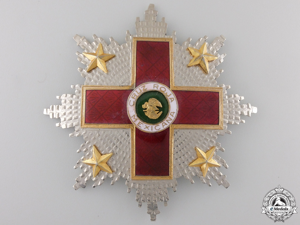 eMedals-A Mexican Order of the Red Cross; Breast Star
