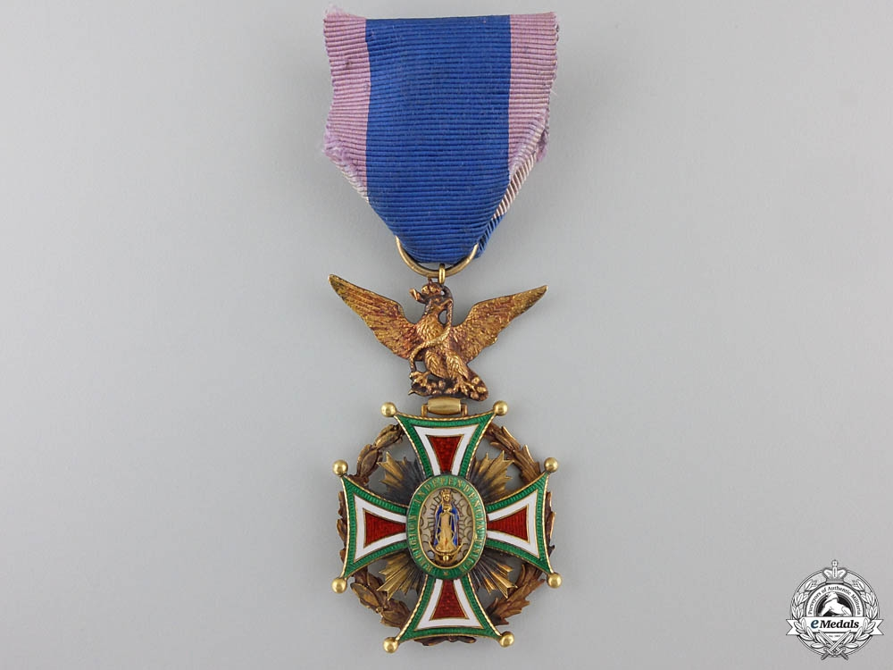 eMedals-A Mexican Order of Our Lady of Guadaloupe in Gold; Officer