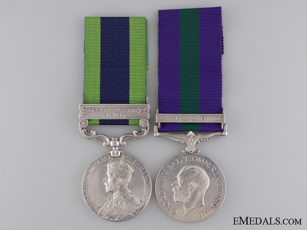 eMedals-A Middle Eastern Service Pair to the 129th Duke of Connaught's Own Baluchis