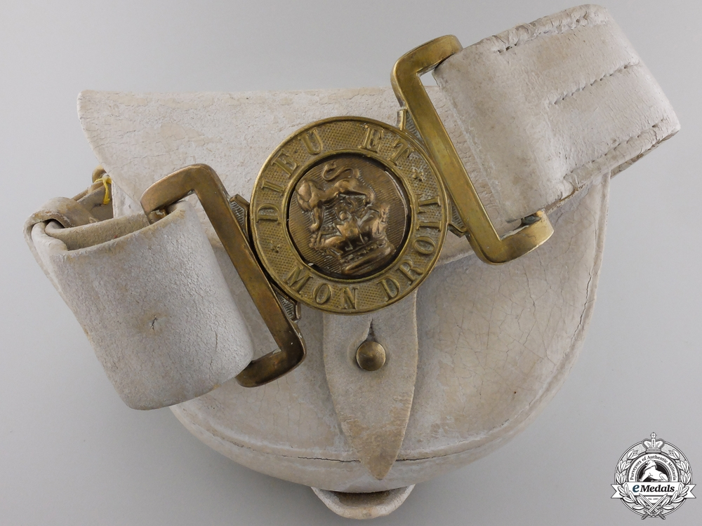 eMedals-A Militia Belt & Pouch of Bugler W. Whiter; Red River 1870
