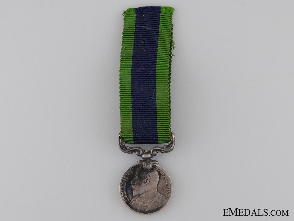 eMedals-A Miniature 1909 India Service Medal