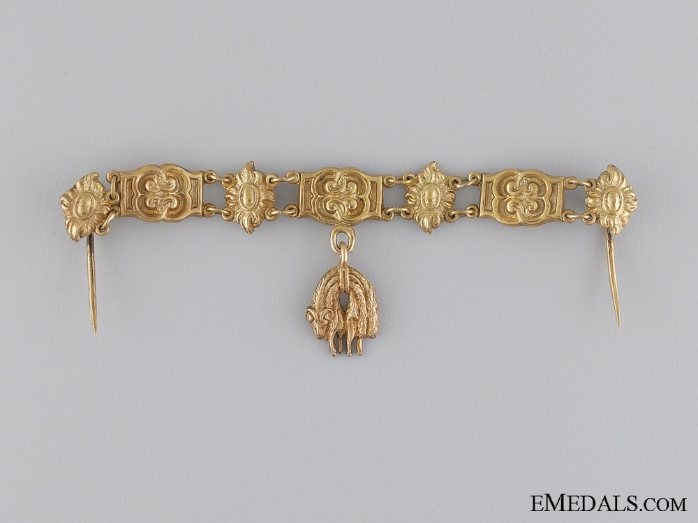 eMedals-A Miniature Austrian Order of the Golden Fleece c.1900