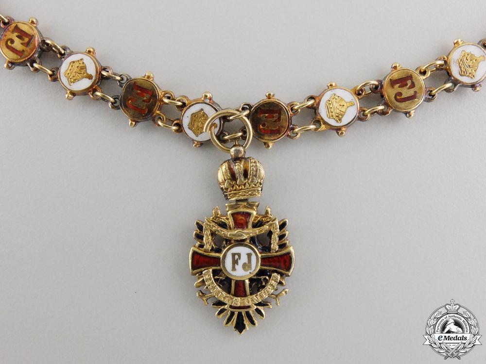 eMedals-A Miniature Austrian Order of Franz Joseph Cross in18k Gold