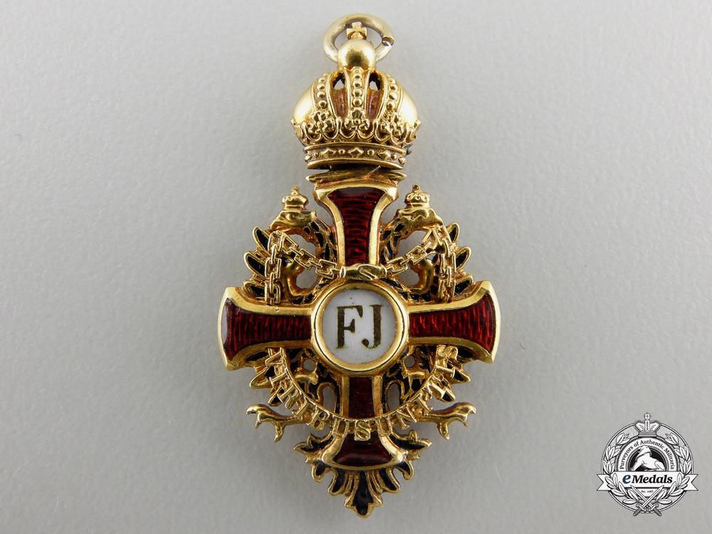eMedals-A Miniature Austrian Order of Franz Joseph in Gold