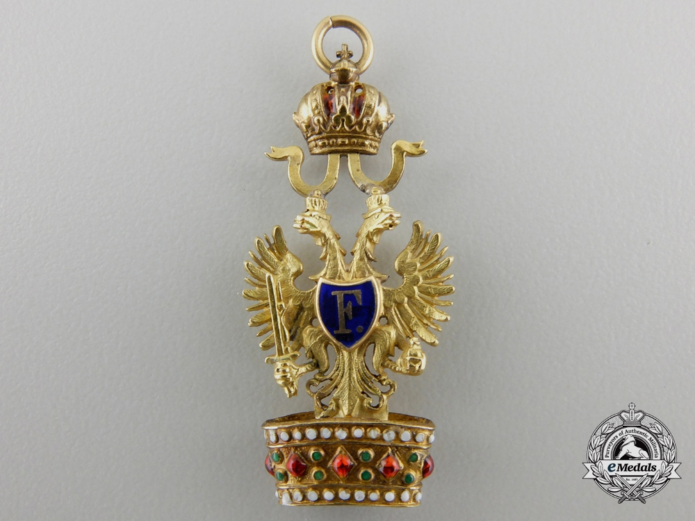eMedals-A Miniature Austrian Order of the Iron Crown in Gold