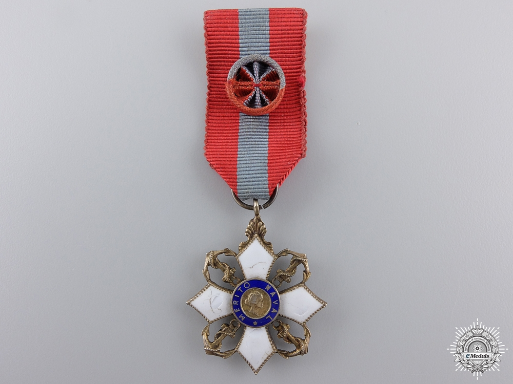 eMedals-A Miniature Brazilian Order of Naval Merit; Officer