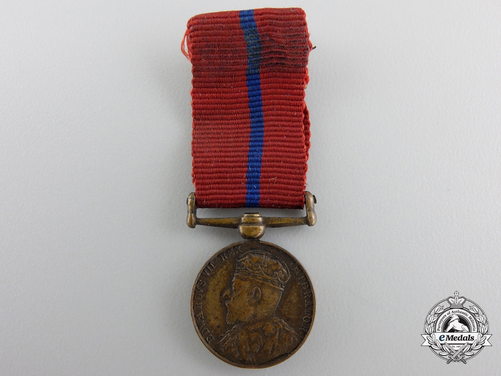 eMedals-A Miniature Coronation (Police) Medal 1902; Named