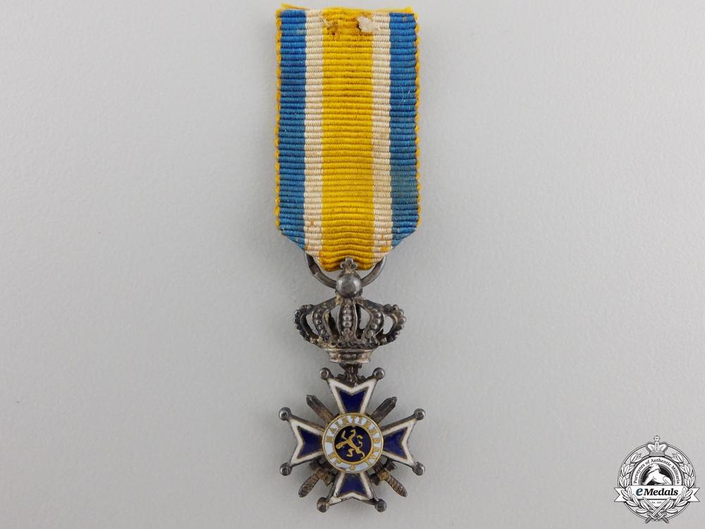 eMedals-A Miniature Dutch Order of Orange-Nassau with Swords