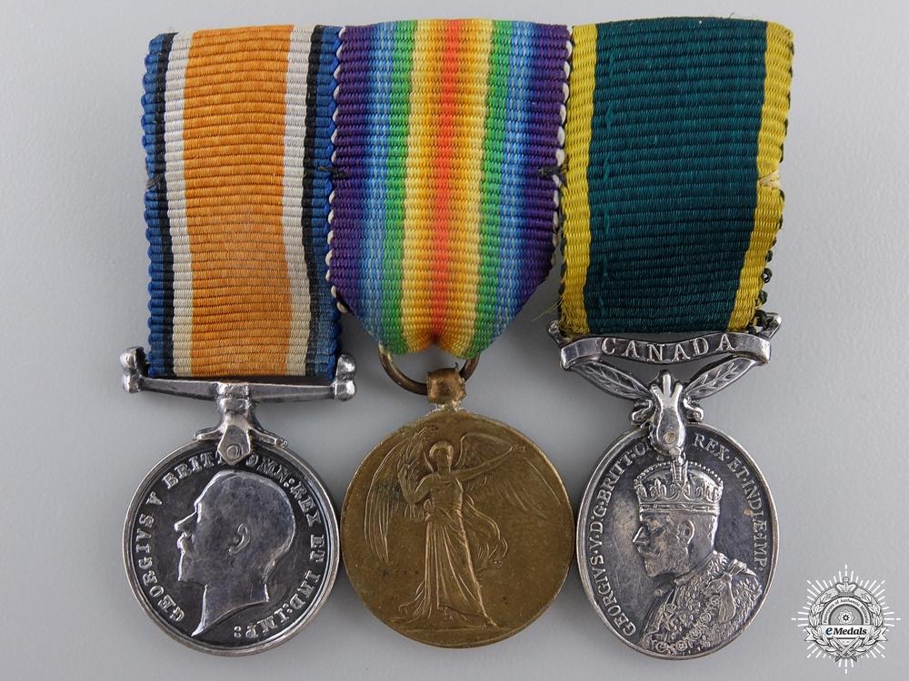 eMedals-A Miniature First War Canadian Efficiency Medal Bar