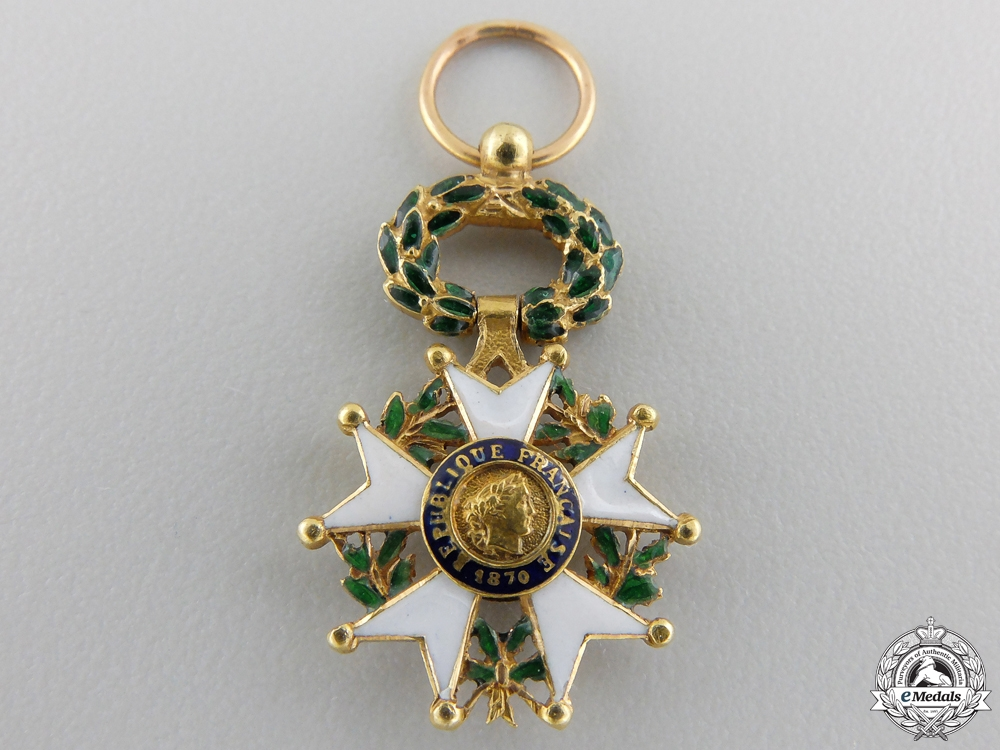 eMedals-A Miniature French Legion D'Honneur; 3rd Republic