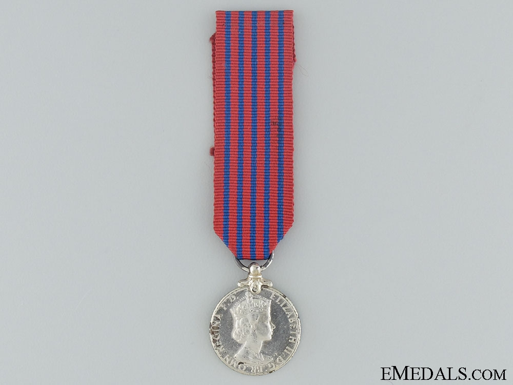 eMedals-A Miniature George Medal; Elizabeth II Issue