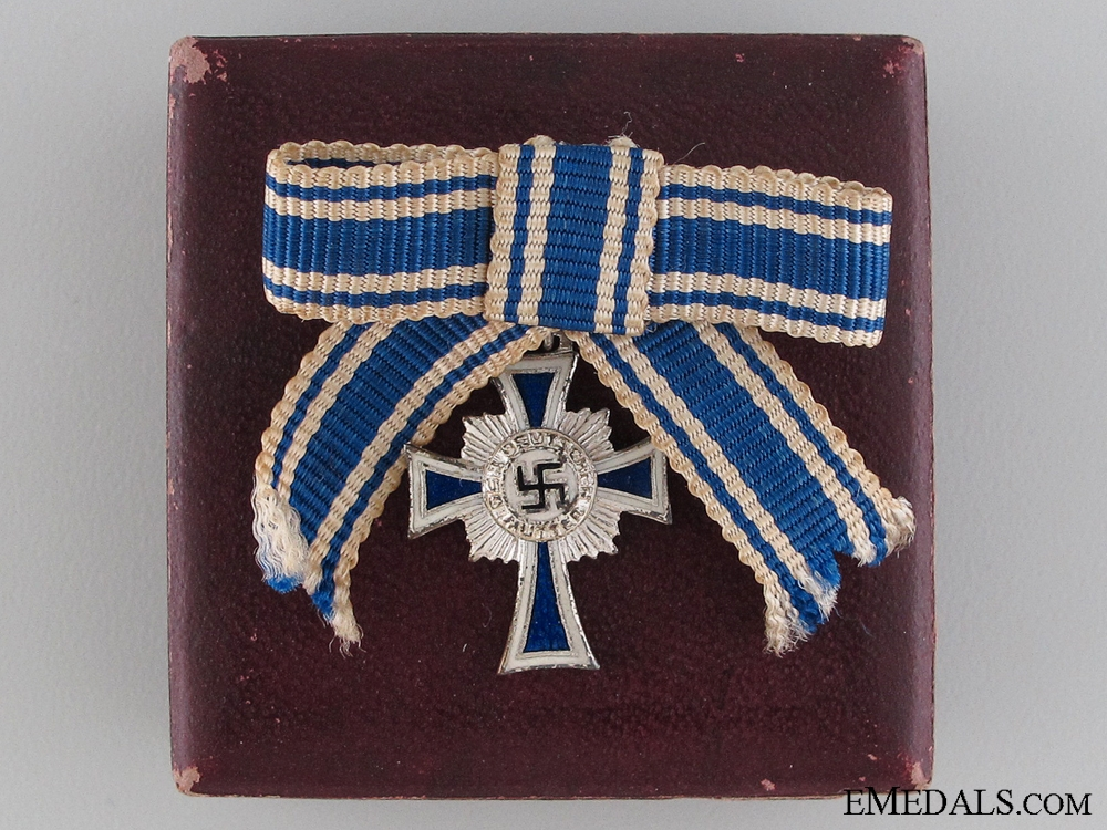 eMedals-A Miniature German Mother's Cross Silver Grade