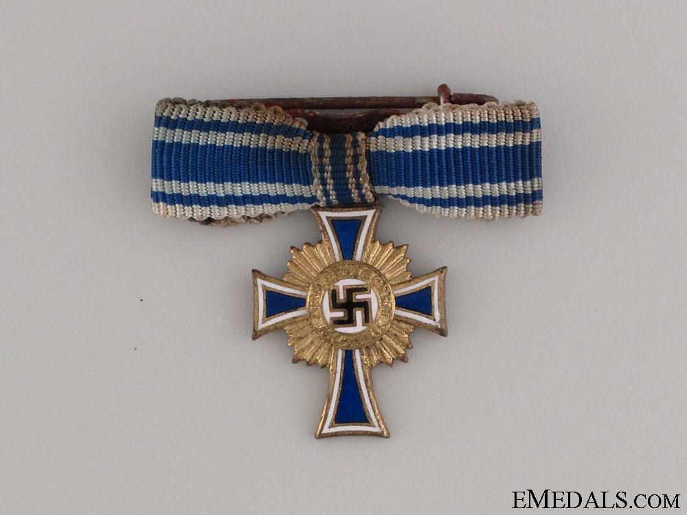eMedals-A Miniature Gold Grade Mother's Cross
