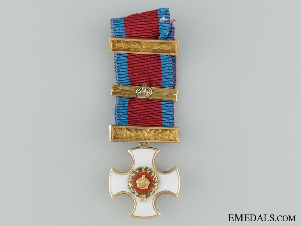eMedals-A Miniature Gold Distinguished Service Order with Bar