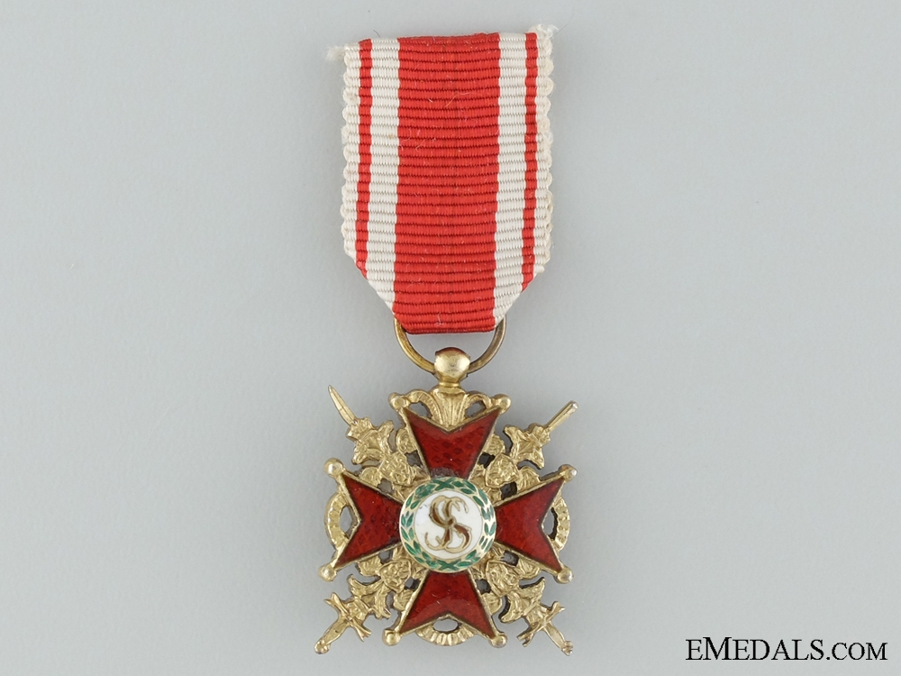eMedals-A Miniature Imperial Order of St. Stanislas with Swords