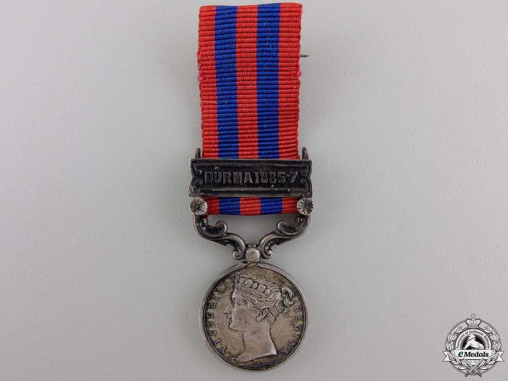 eMedals-A Miniature India General Service Medal; Burma 1885-7