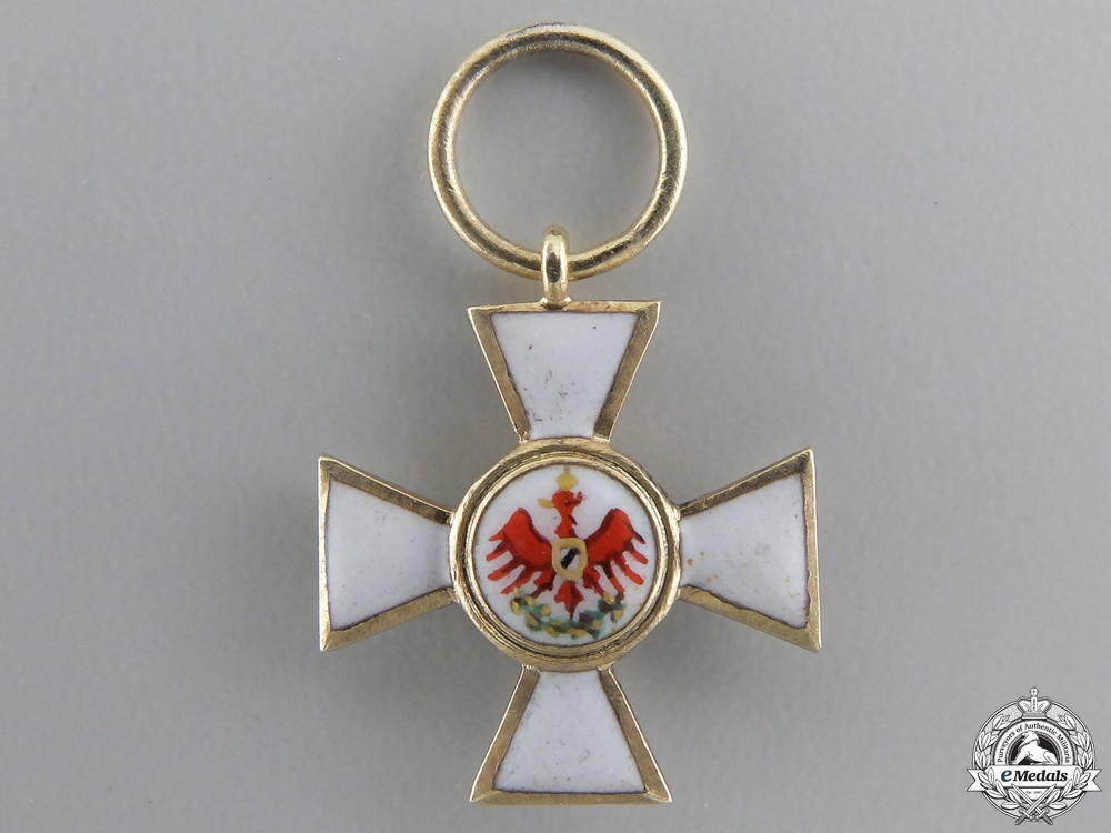 eMedals-A Miniature Prussian Order of Red Eagle