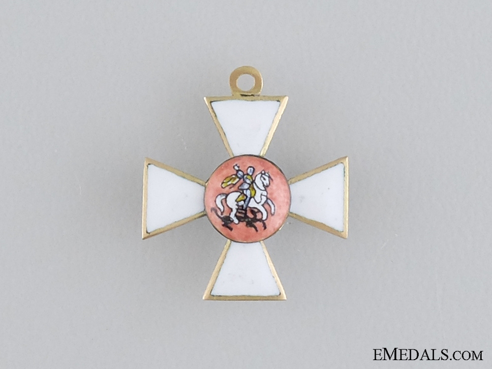eMedals-A Miniature Russian Order of St. George in Gold c.1850