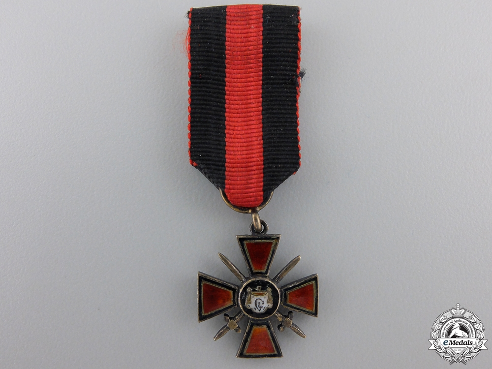 eMedals-A Miniature Russian Order of St.Vladimir with Swords