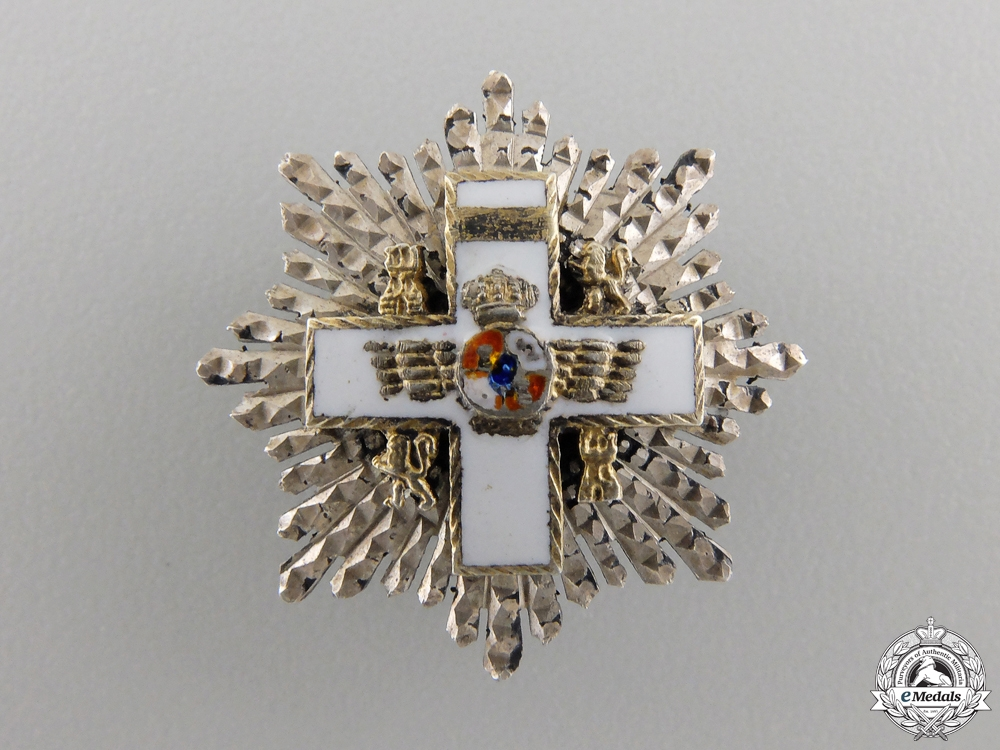 eMedals-A Miniature Spanish Cross of Aeronautical Merit; Grand Cross Star