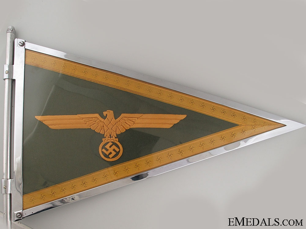 eMedals-A Mint German Army Generals Car Pennant