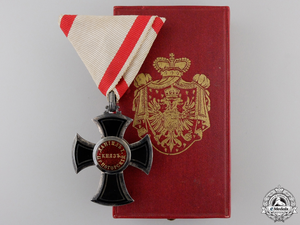 eMedals-A Montenegrin Order of Danilo I; 5th Class Knight (1853-1861)