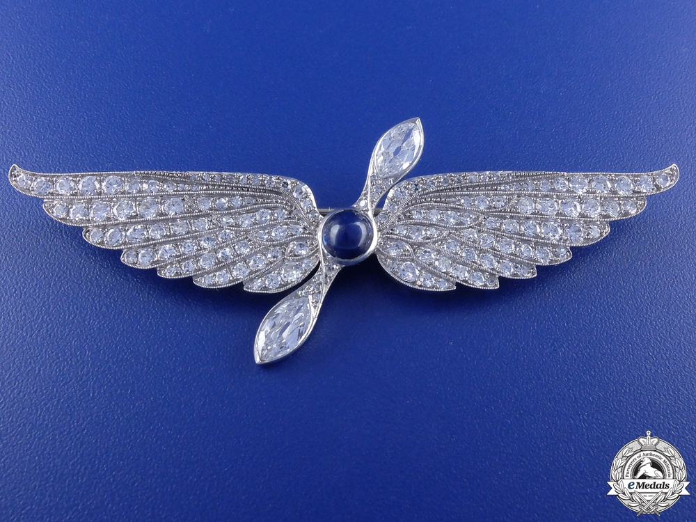 eMedals-A Most Superb First War French Aviation Wing in Platinum & Diamonds