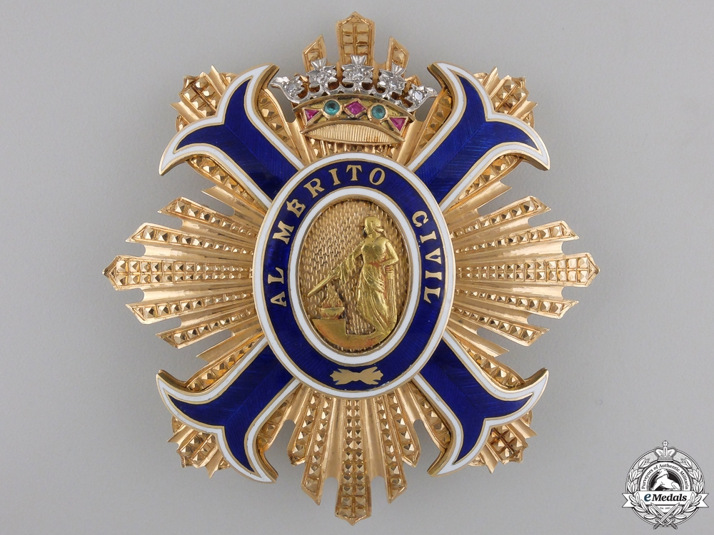 eMedals-A Most Superb Spanish Order of Civil Merit in Gold & Diamonds