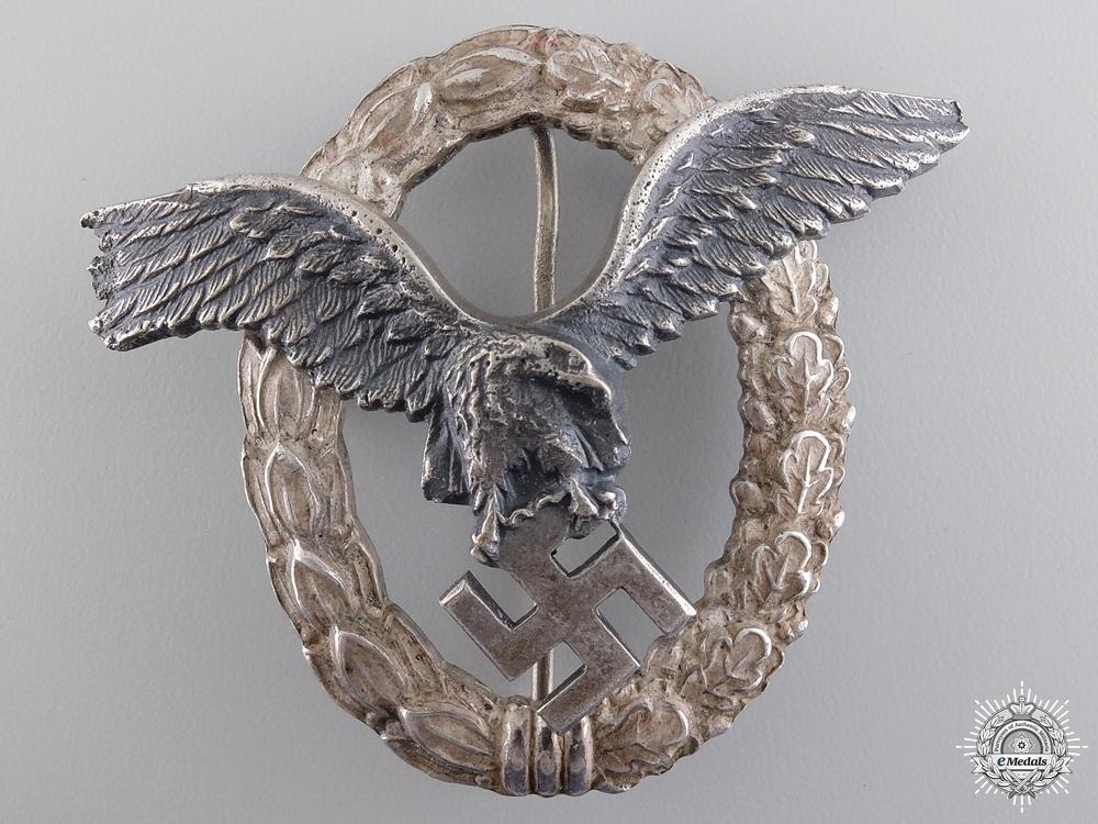 eMedals-A Named Luftwaffe Pilot's Badge by Brüder Schneider