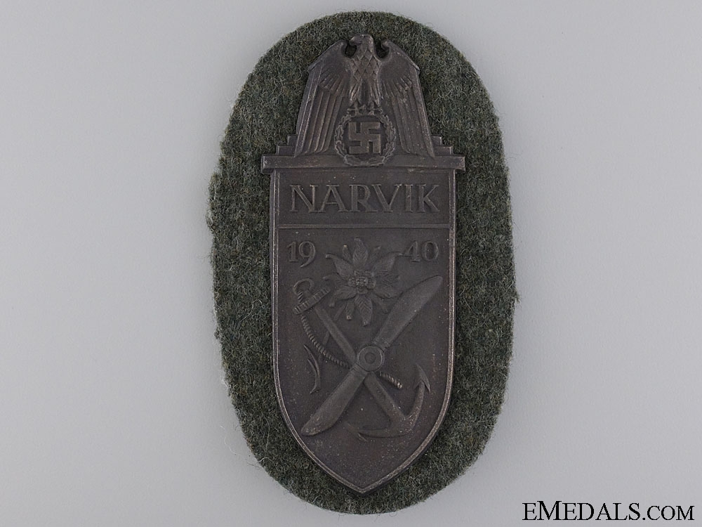 eMedals-A Narvik Campaign Shield; Army Issue