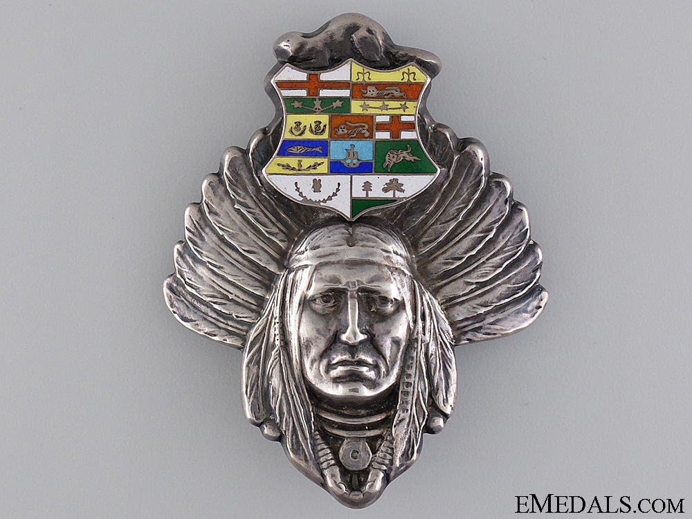 eMedals-A Native Chiefs 1885 Riel Rebellion Loyalty Badge