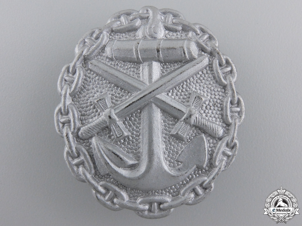 eMedals-A Naval Wound Badge; Silver Grade