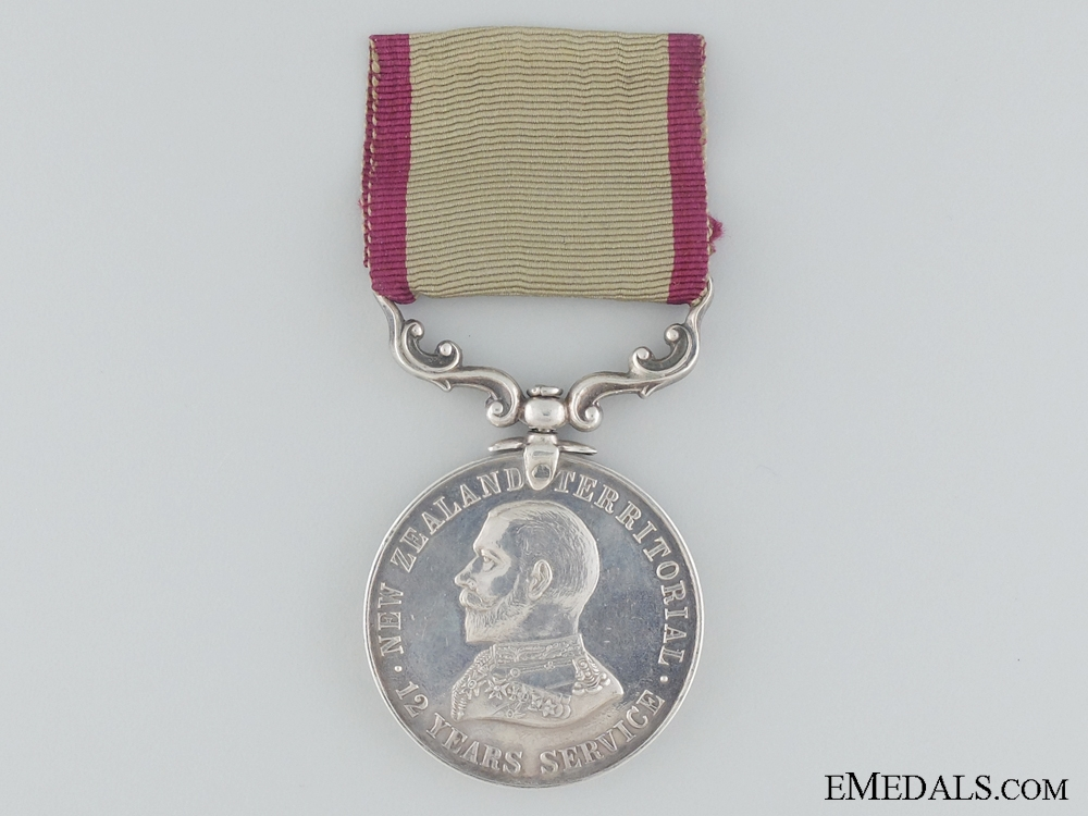 eMedals-A New Zealand Territorial Service Medal to Hawkes Bay Regiment