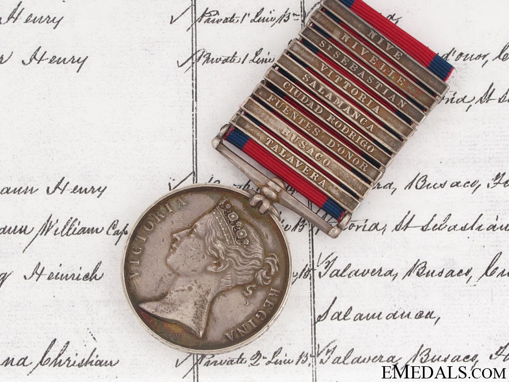eMedals-A Nine Bar Military General Service Medal