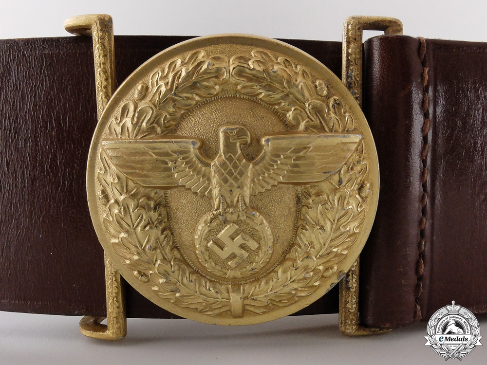eMedals-A NSDAP Political Leader's Belt and Buckle by Friedrich Linden
