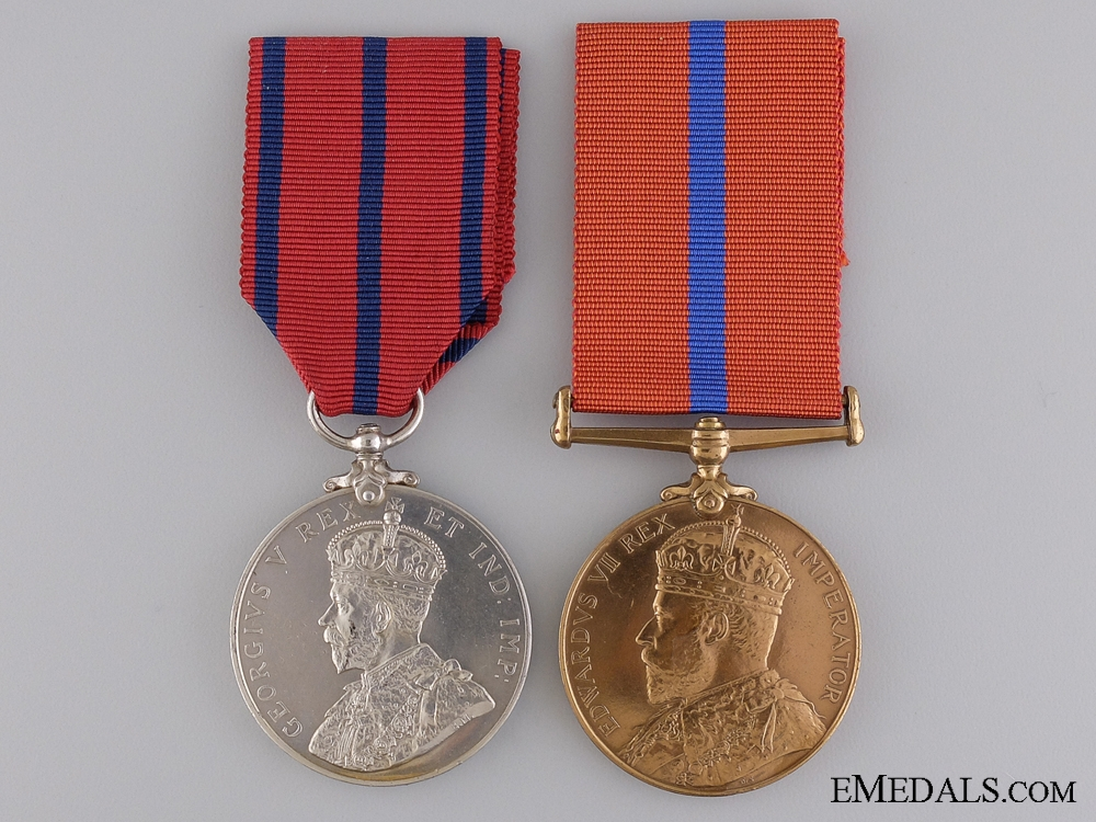 eMedals-A Pair of Coronation Medals to Police Constable Mockford