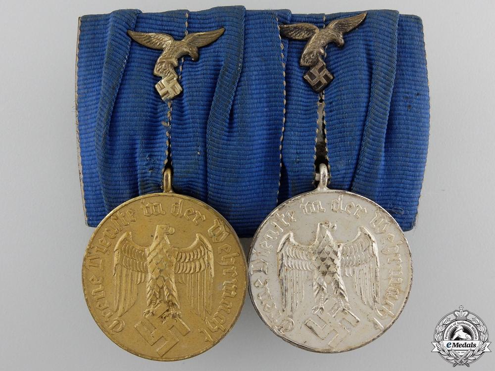 eMedals-A Pair of Luftwaffe Long Service Medals