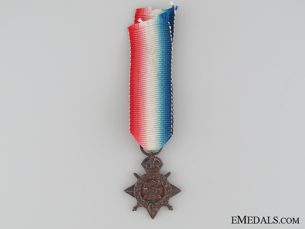 eMedals-A Period Miniature 1914 Mons Star