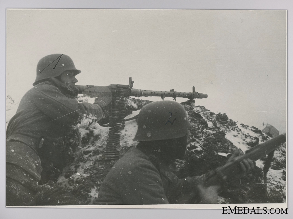 eMedals-A Period Photograph; Wehrmacht Machine Gun Battalion