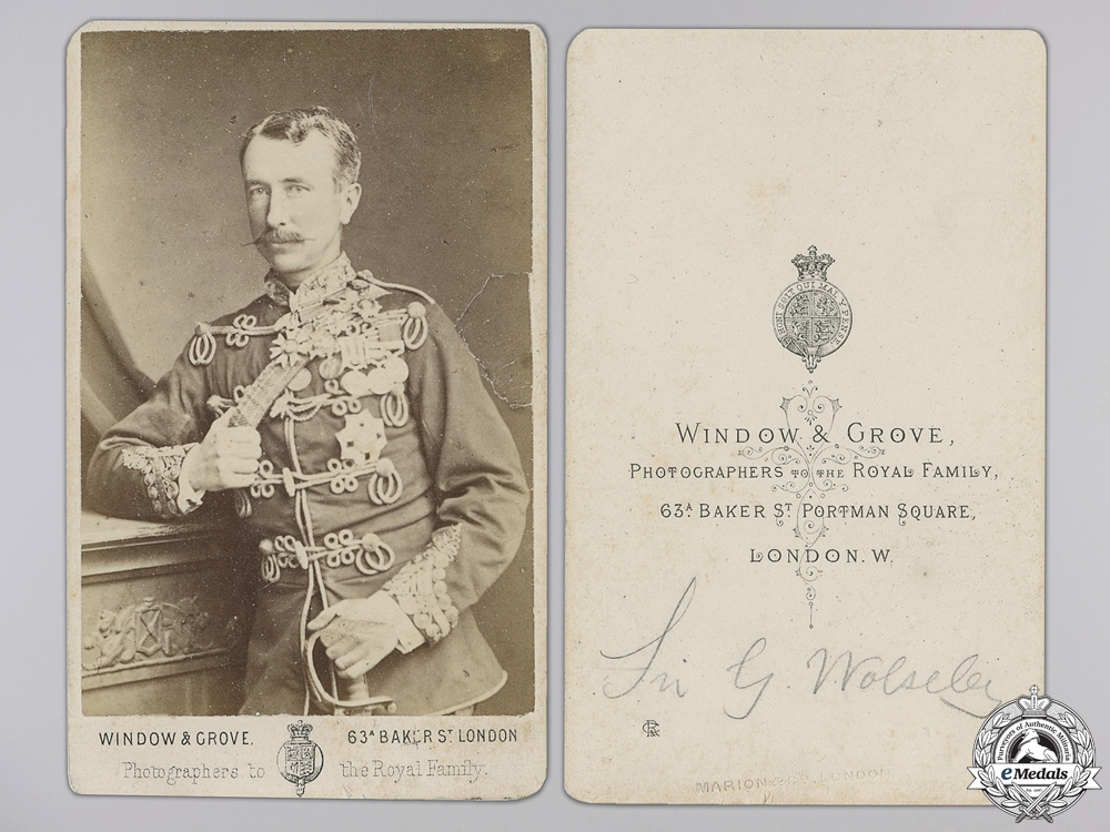eMedals-A Period Signed Photograph of Sir Garnet Joseph Wolseley