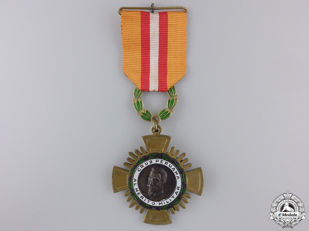 eMedals-A Peruvian Cross of Military Merit; Knight