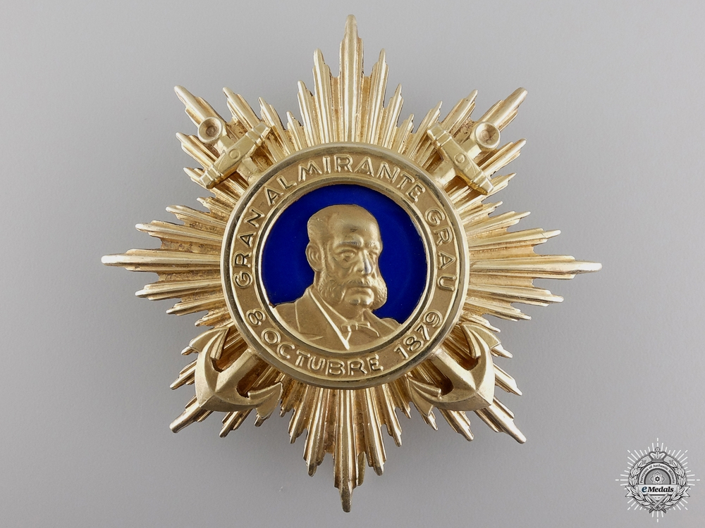 eMedals-A Peruvian Order of Miguel Grau; Breast Star