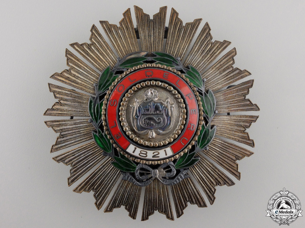 eMedals-A Peruvian Order of the Sun; Breast Star