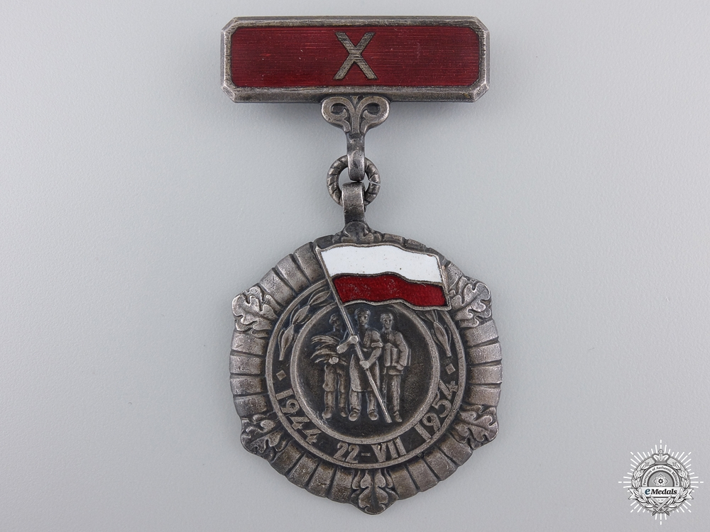 eMedals-A Polish Medal for the Tenth Anniversary of the People's Republic 1944-1954
