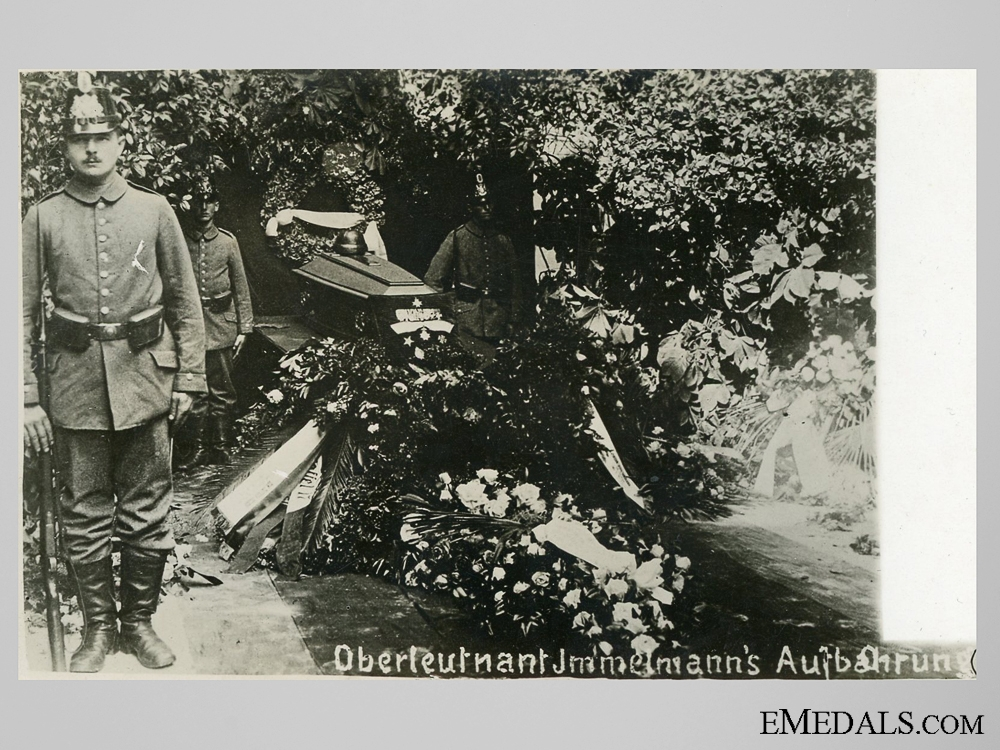 eMedals-A Post Card – Immelmann's Burial