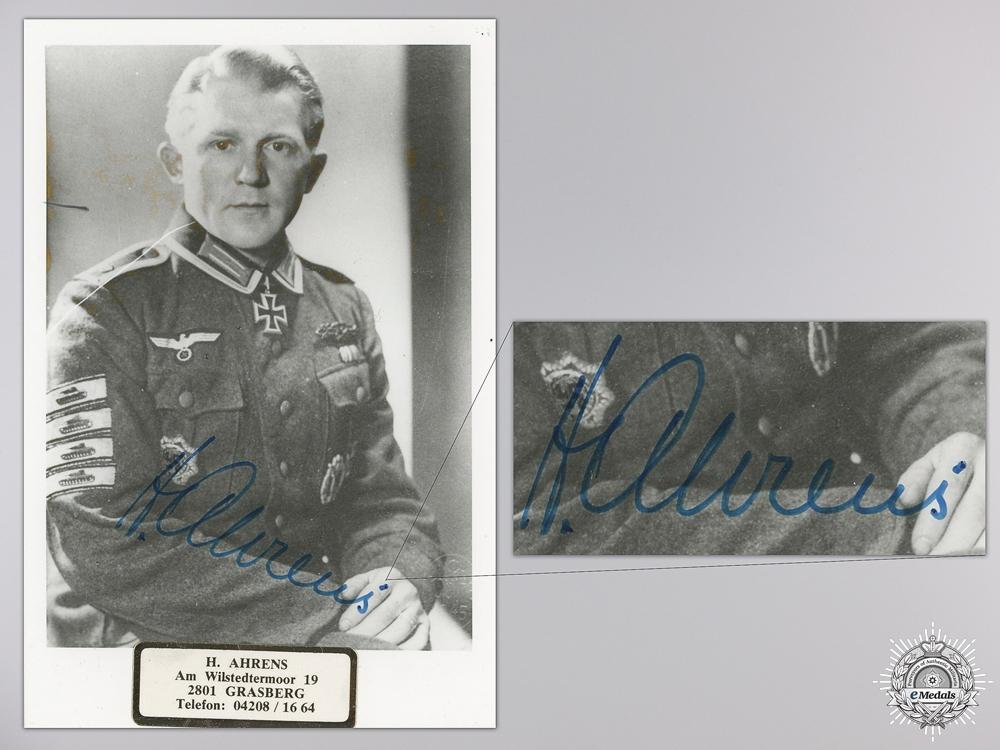 eMedals-A Post War Signed Photograph of a Knight's Cross Recipient